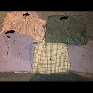 Set of 5 medium Polo Ralph Lauren button-downs